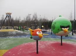 Leppävaaran angry birds -puistosta on vain pieni matka Huippuun. Kuva: KivaaTekemistä