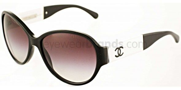 Chanel CH5229Q 1348/3C Black/White Chanel Sunglasses | 2012 Chanel Sunglasses | Official Supplier