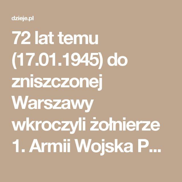 """Andrzej Kunert: """"W moim odczuciu 17 stycznia 1945 r. nastąpiło nie wyzwolenie miasta, ale wyzwolenie morza ruin, pozbawionego mieszkańców. Nazwałbym to zajęciem wymarłego miejsca, kilka godzin wcześniej opuszczonego przez oddziały niemieckie. W stolicy nie było nikogo, kto by mógł przywitać wkraczające wojsko kwiatami"""". [...] Do Warszawy wkroczyły również oddziały sowieckie [...] Pracę rozpoczęły grupy mające na celu zatrzymanie kierownictwa """"AK"""", """"NSZ"""" i podziemnych partii politycznych."""