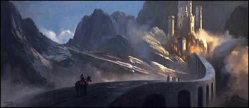 A long dangerous road leading to the castle