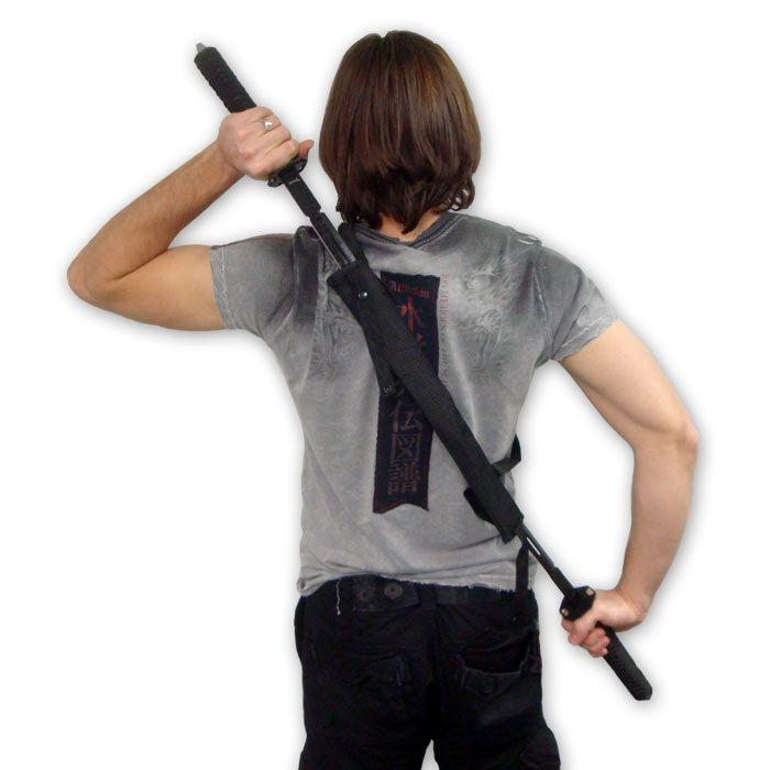 Dual Wielding Ninja Sword Set now available at https://www.karatemart.com/dual-wielding-ninja-sword-set