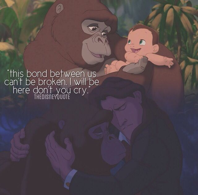 "Tarzan song lyrics ""...this bond between us can't be broken. I will be here don't you cry"""
