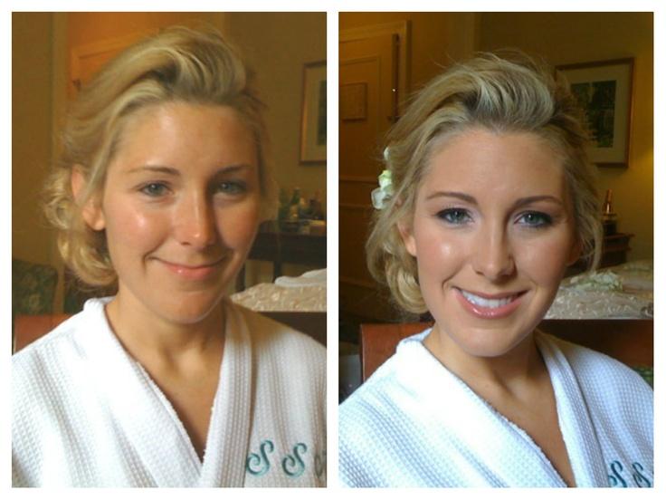 my work - www.bridesbylisa.com WEDDING MAKEUP LOOKS BEFORE & AFTER - TEMPTU PRO, LANCOME & NARS: Wedding Makeup