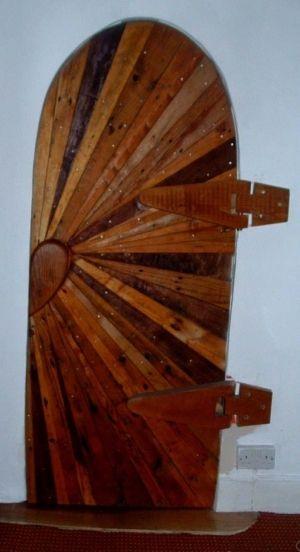 Wood pallet door! by margery & 30 best front doors images on Pinterest | Front doors Pallet door ... Pezcame.Com