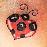46 best tattoo ideas images on pinterest moon star for Ladybug heart tattoos