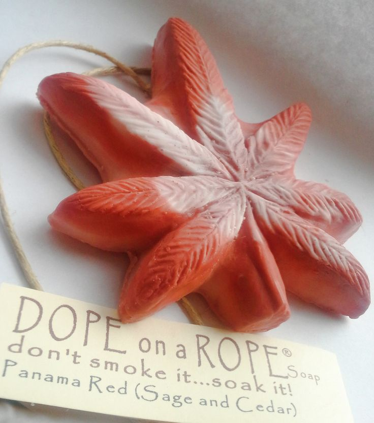 Dope on a Rope Soap - Hemp Oil Soap on a Rope - Panama Red - Sage and Cedar Essential Oil - Funky Autumn Fall Bohemian - Weed - Marijuana by DopeOnARopeSoap on Etsy