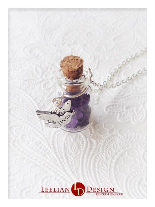 """""""Dream"""" pendant with ametyst.  """"Álom"""" medál ametiszttel."""