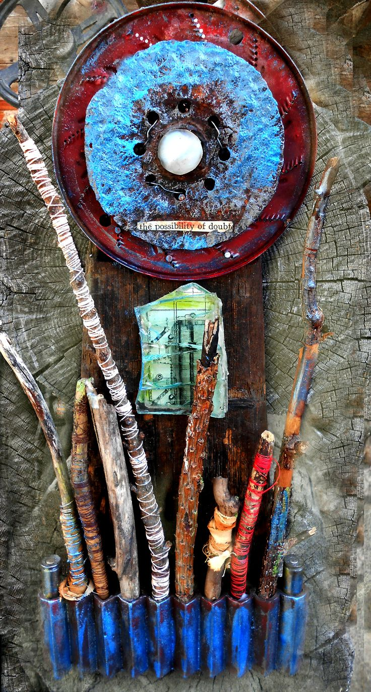 Assemblage art by mixed media artist Laurie Dorrell