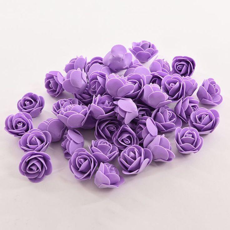 50 SZTUK Mini PE Pianka Rose Sztuczne Kwiaty Na Ślub Samochód Dekoracji DIY Pompom Wieniec Dekoracyjne walentynki Fałszywe kwiaty
