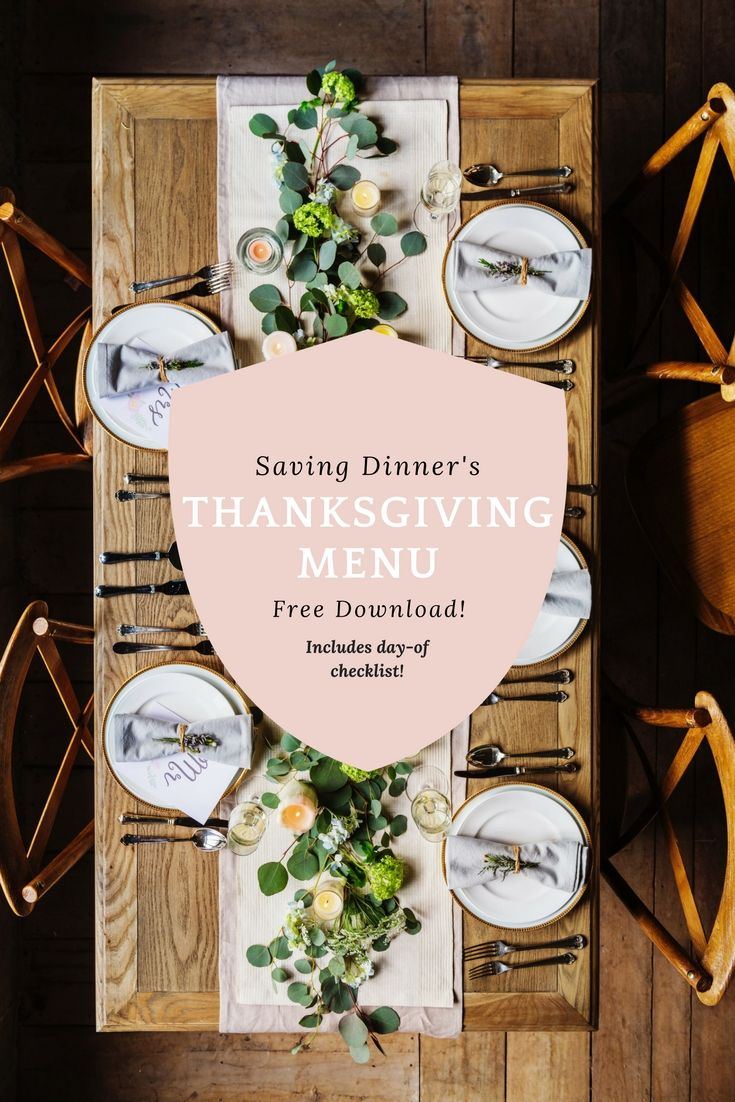 FREE download includes: full Thanksgiving Day menu (classic AND paleo menus) plus a bonus freebie - our stress-relieving Thanksgiving Checklist! Some free structure for holiday meal prep!
