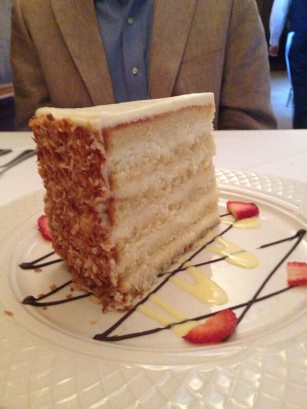"""""""So, we had to try the world famous coconut cake from the #PeninsulaGrill.  It was delicious!"""""""