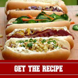 Build your own hot dog bar..nom.