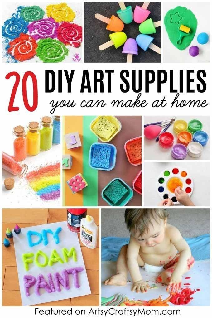 20 Diy Art Materials You Can Make At Home Artsy Craftsy Mom