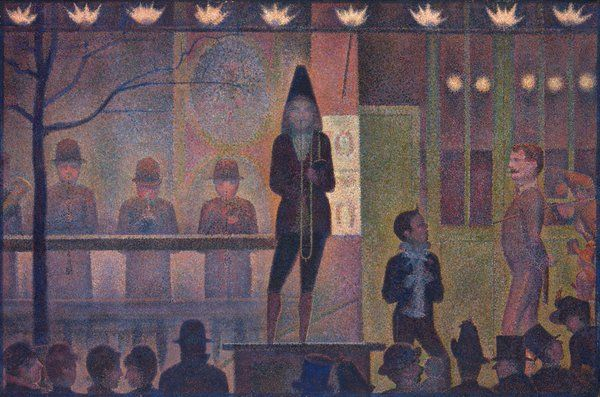 "Georges Seurat - "" Circus Sideshow """