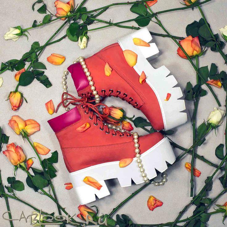 Ботинки женские Jeffrey Campbell Nirvana coral в магазине дизайнерской обуви CabLOOK.ru