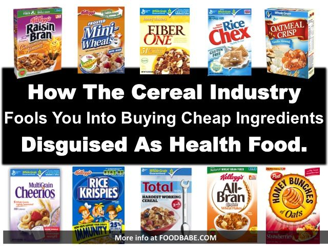 the cereal industry The cereal industry has a diversified range of products so consumers can easily substitute one type of cereal for another or one brand for another .