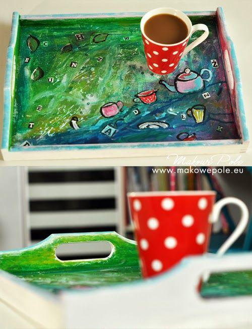 Makowe Pole coffee, tea, tray