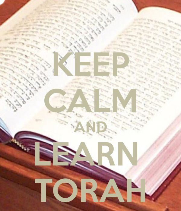 KEEP CALM AND LEARN TORAH