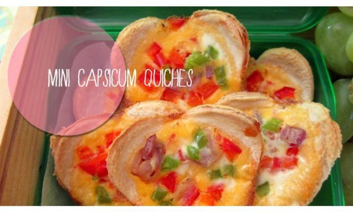 Mini capsicum quiches - Kidspot