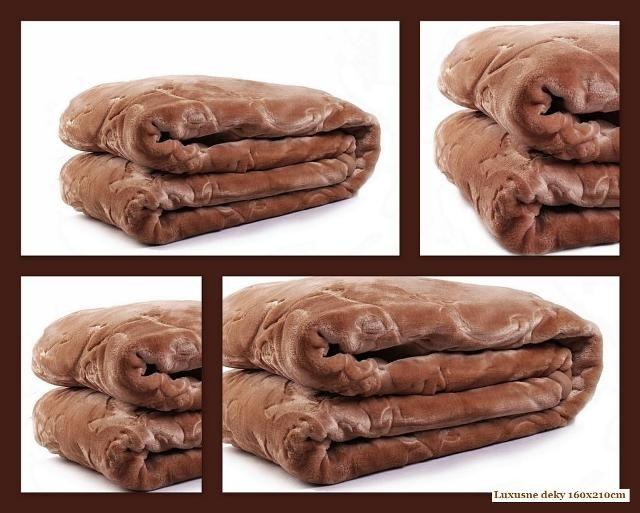 Elegantní hrubá deka hnědé barvy