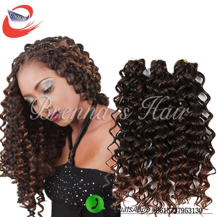Find More Bulk Hair Information about 3 bundles/piece hair bundles synthetic braiding hair extension crochet braids deep wave brazilian hair for black women,High Quality braiding hair extensions,China hair extension Suppliers, Cheap extension crochet from Brenna's Hair Store on Aliexpress.com