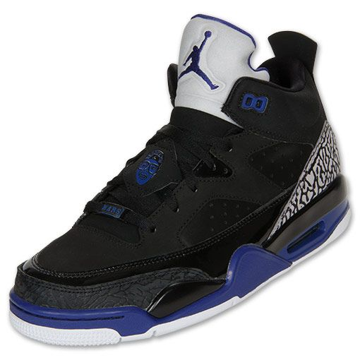 Men's Jordan Son of Mars Low Basketball Shoes | FinishLine.com | Black/Grape