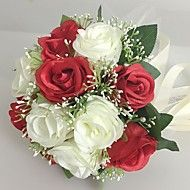 "Wedding+Flowers+Round+Roses+Bouquets+Wedding+Party/+Evening+Satin+9.84""(Approx.25cm)+–+USD+$+33.98"