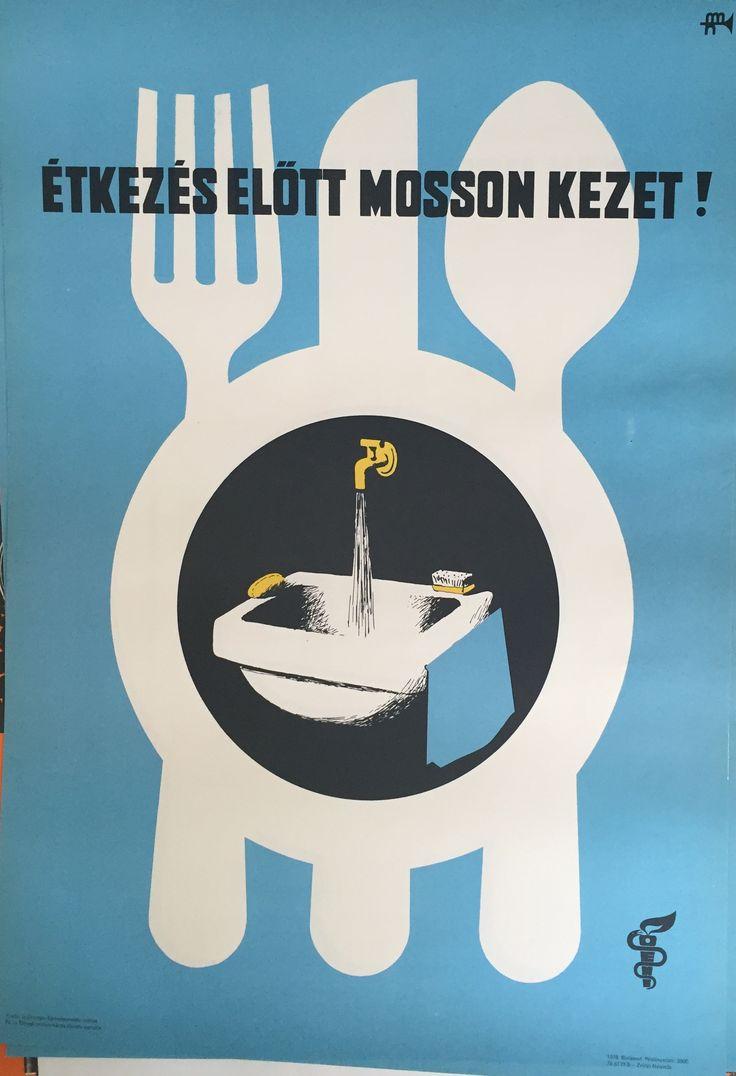 Étkezés előtt mosson kezet! 1978. | Plakát galéria