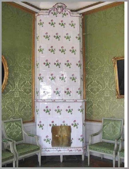 Cool green Swedish tile stove