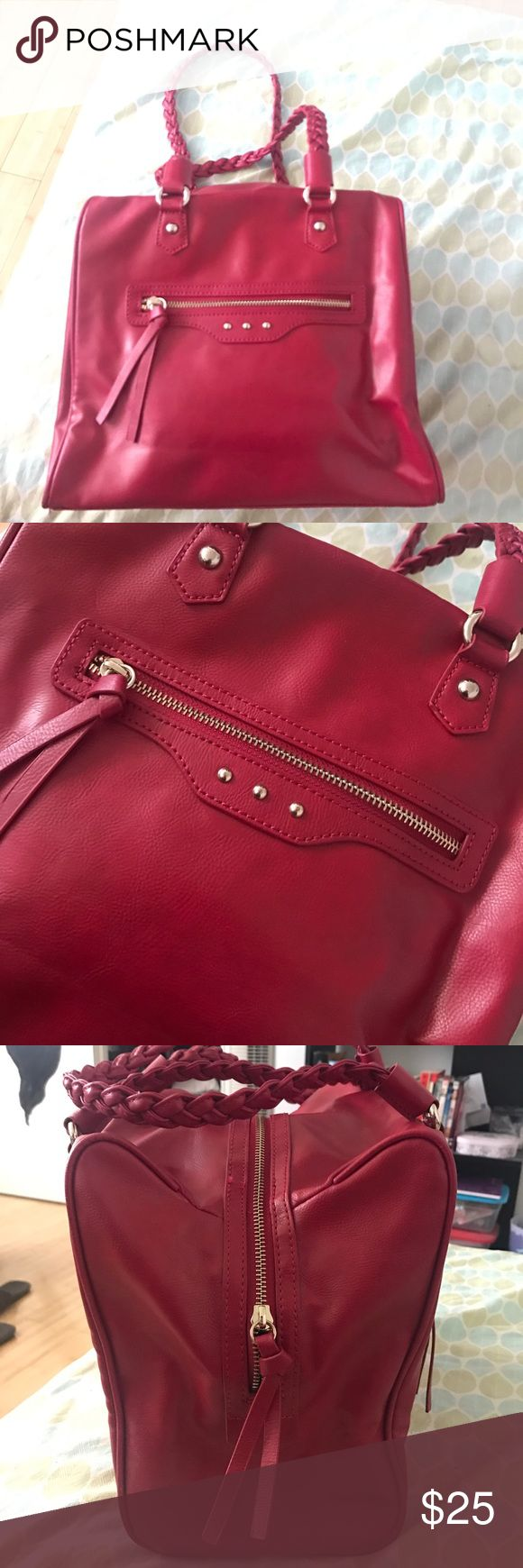 Red Deena & Ozzy hand bag Beautiful red Deena & Ozzy handbag only been worn once as you can see in the photos it looks brand new! Very spacious bag with detailed straps. Deena & Ozzy Bags Shoulder Bags