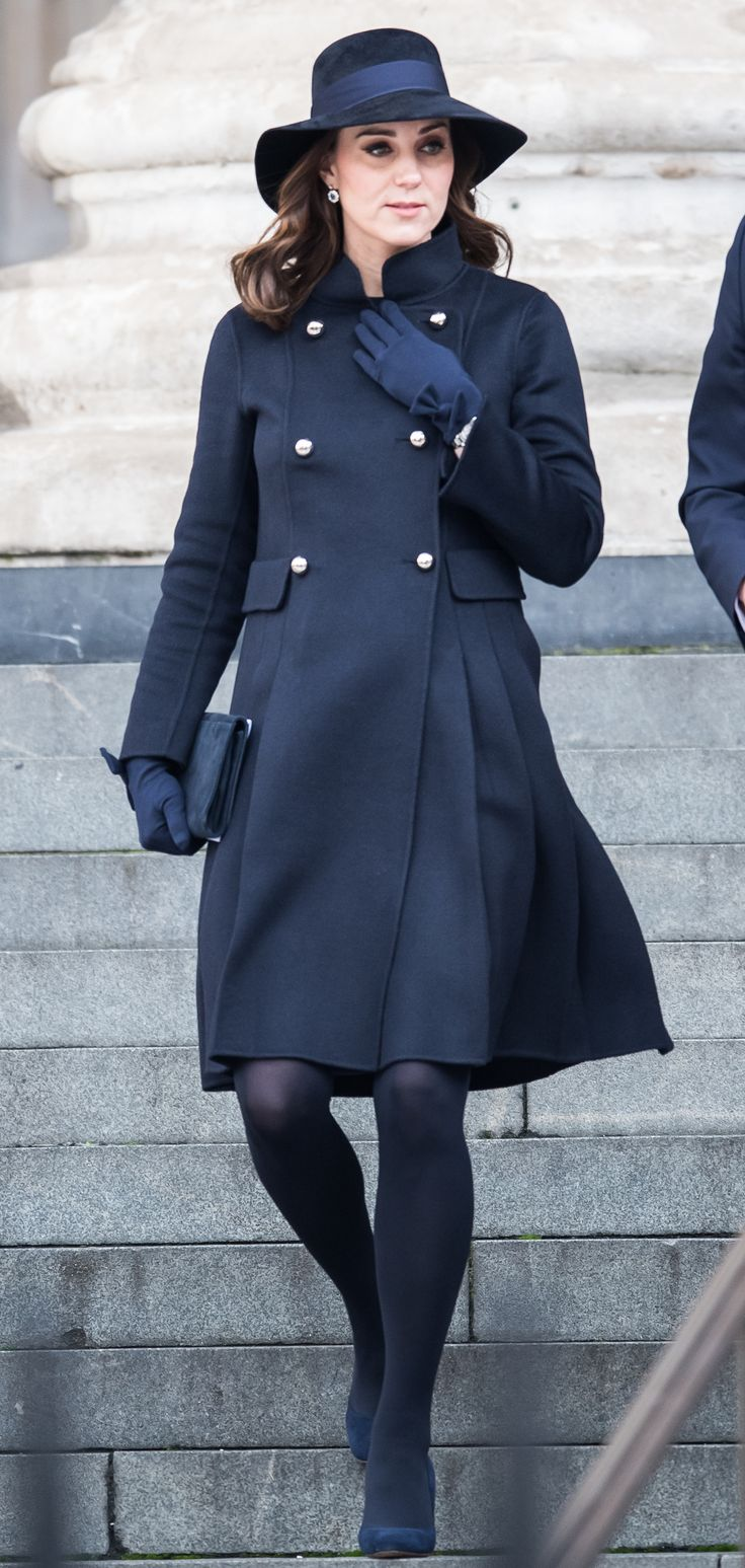 LONDON, ENGLAND - DECEMBER 14: Catherine, Duchess of Cambridge attends the Grenfell Tower national memorial service held at St Paul's Cathedral on December 14, 2017 in London, England. (Photo by Samir Hussein/Samir Hussein/WireImage) via @AOL_Lifestyle Read more: https://www.aol.com/article/lifestyle/2017/12/14/duchess-kate-middleton-steps-out-in-carolina-herrera-for-grenfell-tower-fire-memorial/23307529/?a_dgi=aolshare_pinterest#fullscreen