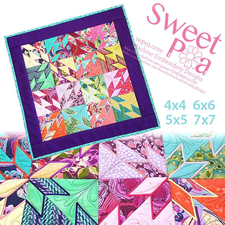 9 best Machine Embroidery Quilt in the hoop images on Pinterest ... : machine quilting hoop - Adamdwight.com