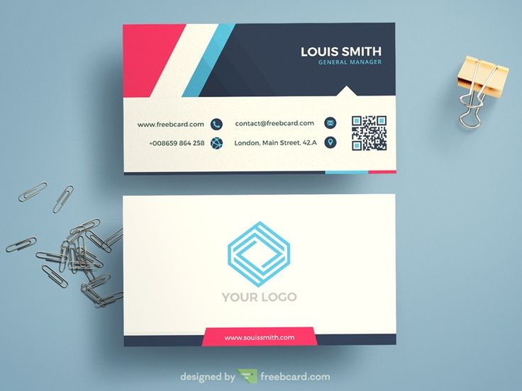 10 best business card templates free download images on pinterest minimal corporate blue business card template freebcard fbccfo Images