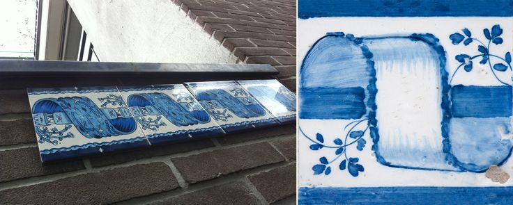"""Street Ceramics – Paris'13"", 2013, Add Fuel (1980), Paris (photo by Diogo Machado); 19th century patterned azulejo (photo: Inês Aguiar)  