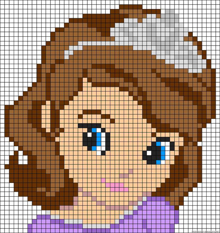 Princess Sofia the First perler bead pattern