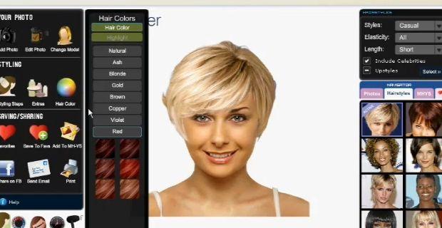 Test de coiffures femmes