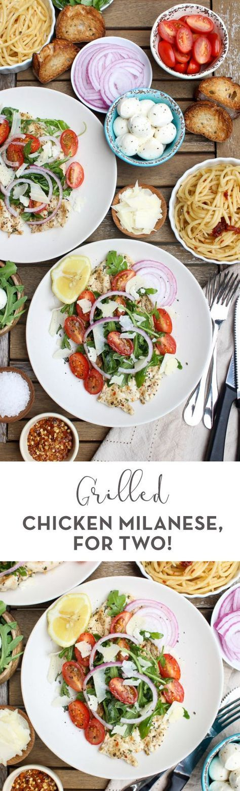 Ready in just 20 minutes and completely gluten-free, this Grilled Chicken Milanese (For Two!) is the ultimate healthy summer dinner! Fast and delicious.