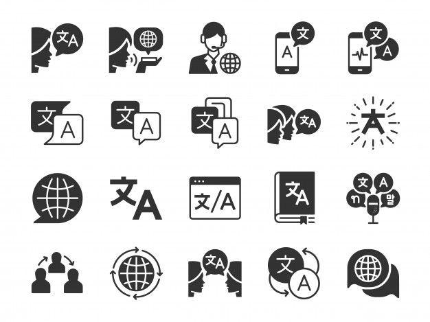 Translation Icon Set Icon Set Icon Business Cards Creative