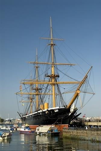 HMS Warrior Portsmouth harbour Hampshire England