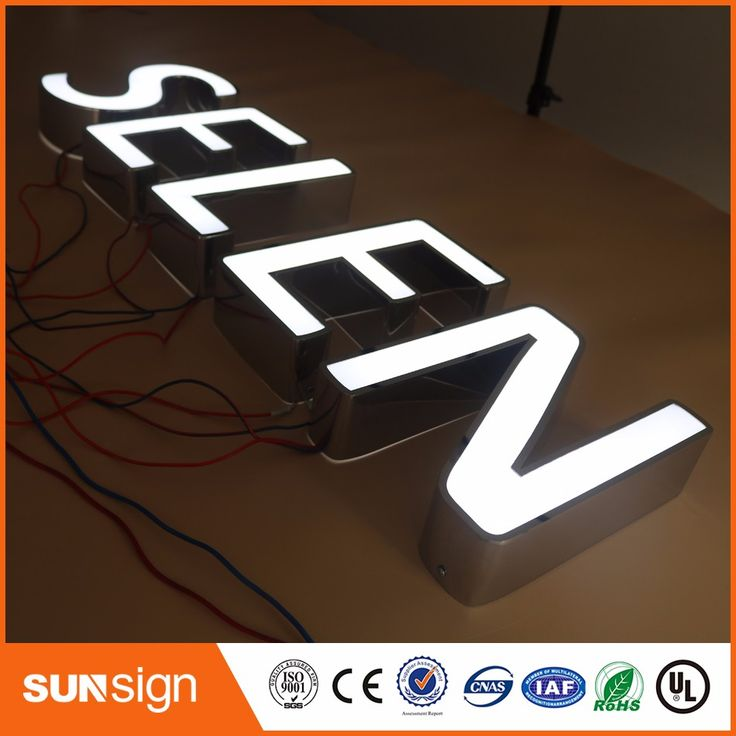 Fancy aliexpress Factory Outlet Custom high brightness Outdoor Acrylic led letter light signs Affiliate