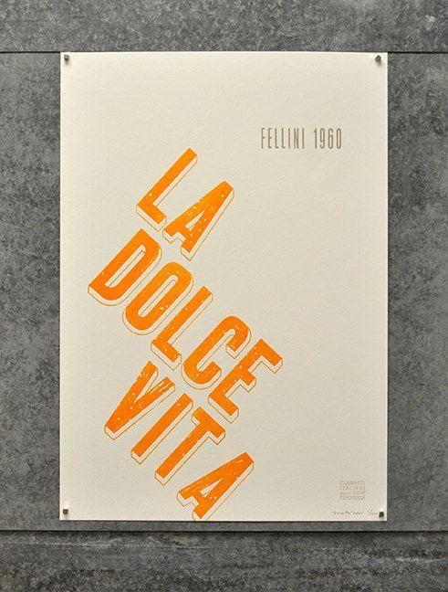 Italian Film Poster Series: Fellini's La Dolce Vita by metanew, $35.00
