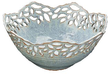 Wedding pottery and dinnerware by Joy Friedman.  View Joy's broad selection of dip and chip platters, glaze designs, lace bowls, lamps and kitchenware.