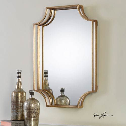 Lindee Gold Wall Mirror Uttermost Wall Mirror Mirrors Home Decor
