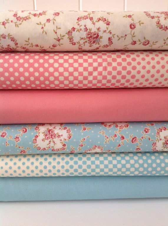 Fabric Bundle Of Half Yard Cuts Robyn Pandolfs Hopes Cove Shabby Chic