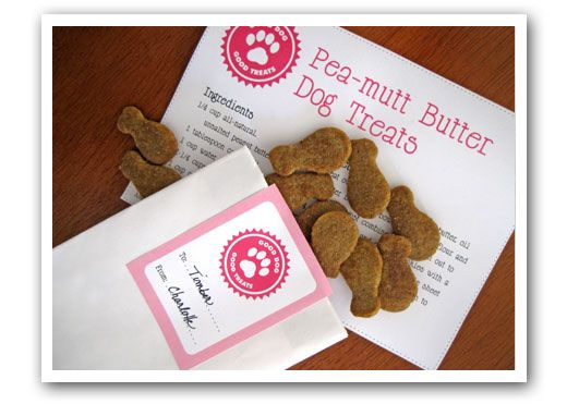 Doggy treat recipe with cute recipe card!
