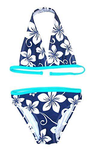 #Step #In #Mädchen #Bikini #Neckholder, #9267, #marine/weiß/türkis,   #92 Step In Mädchen Bikini Neckholder, 9267, marine/weiß/türkis, Gr. 92, , nit breitem Nackenträger
