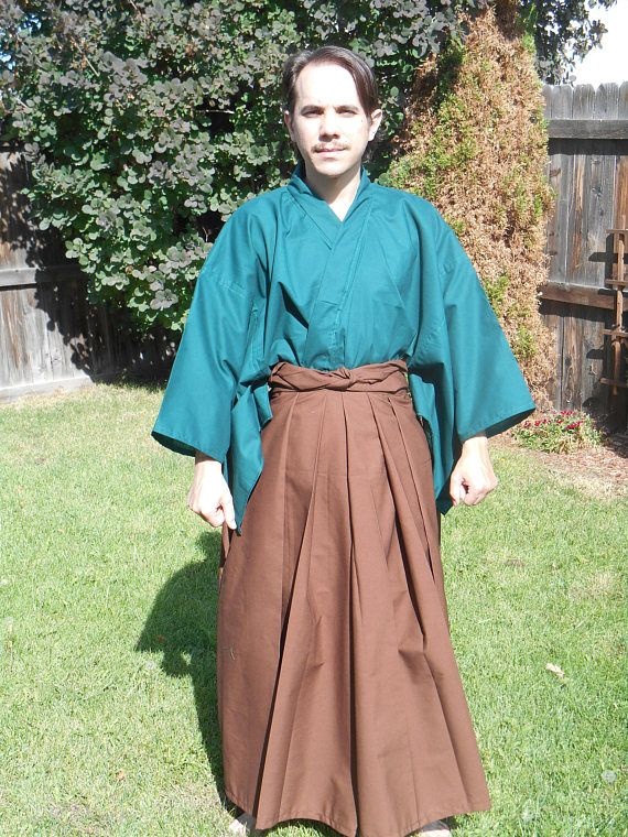 Custom Made Japanese Hakama Pants With Sewn Pleats Samurai Martial Arts Kendo