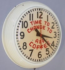 Vintage 60's A Coffee Grocery Electric Clock