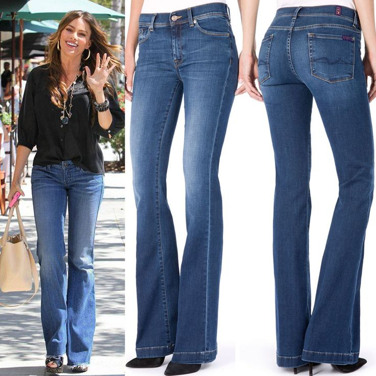 София Вергара была замечена недавно в Лос-Анджелесе в расклешенных джинсах 7 For All Mankind. В JiST (ул.Саксаганского 65) вы сможете подобрать очень похожие, чуть более зауженные в бедре и колене и так же эффектно расклешенные джинсы из новой осенней коллекции этого именитого бренда.  Или заказать их с доставкой на jist.ua. #fashionable #celebrity #style: #stylish #SofiaVergara looks #chic in #blue #skinny #7ForAllMankind #jeans #outfit #мода #стиль #тренды #джинсы #модно #стильно