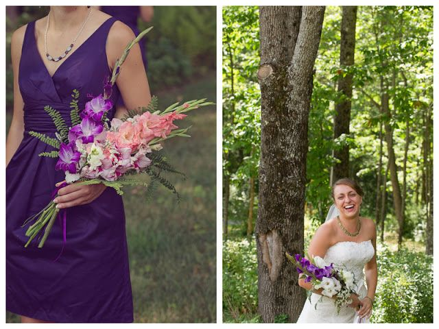 So I ordered flowers today and went with a less common style known as arm, sheaf or presentation bouquets! Ours will have gladiolus like the ones in this pic with ivy instead of ferns, plus some other flowers. :-)